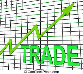 グラフ, チャート, 取引しなさい, 取引, 増加, ∥あるいは∥, ショー
