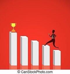 グラフ, デザイン, ビジネス, 成功