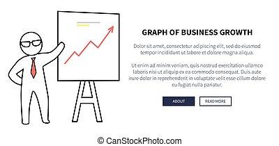 グラフ, ベクトル, 成長, イラストビジネス