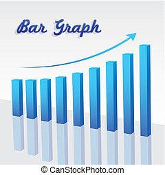 グラフ, 上昇, バー
