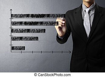グラフ, 執筆, ビジネス, 上に, ターゲット, 人