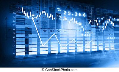 グラフ, 市場, 株