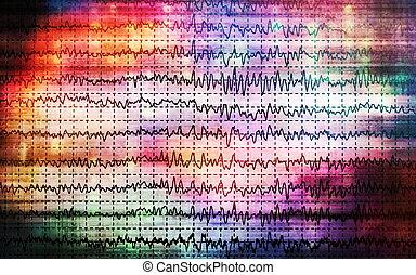 グラフ, eeg, 概念, 脳波