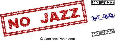 グランジ, いいえ, ジャズ, スタンプ, textured, 長方形