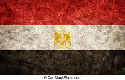 グランジ, エジプト, flag., 型, 項目, 旗, レトロ, コレクション, 私