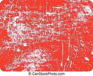 グランジ, コピースペース, 切手, 隔離された, 長方形, 中央, 背景, 白い赤