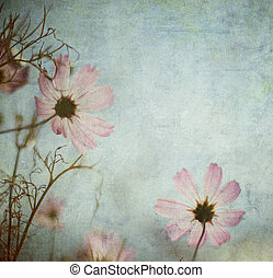 グランジ, スペース, テキスト, イメージ, 背景, 花, ∥あるいは∥