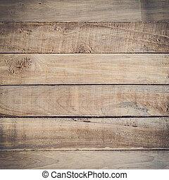 グランジ, スペース, 手ざわり, 無作法, 木, 背景
