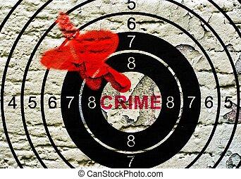 グランジ, ターゲット, 背景, 犯罪