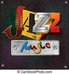 グランジ, テキスト, 抽象的, ジャズ 音楽, 背景