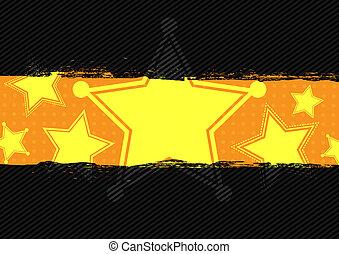 グランジ, デザイン, 旗, 星