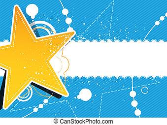 グランジ, デザイン, 星, 背景