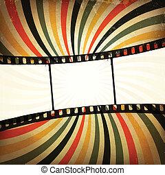 グランジ, バックグラウンド。, ベクトル, ストリップ, eps10, フィルム