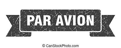グランジ, バンド, 対 avion, 旗, ribbon., 印。