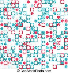 グランジ, パターン, 抽象的, seamless, 効果, 円