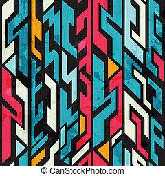 グランジ, パターン, 抽象的, seamless, 効果, 落書き