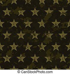 グランジ, パターン, seamless, ベクトル, 星, 軍