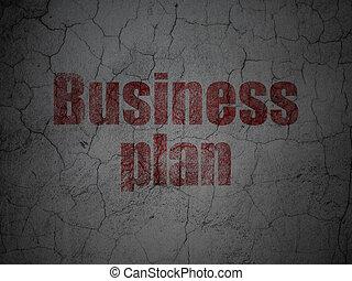 グランジ, ビジネス, 壁, 計画, 背景, concept: