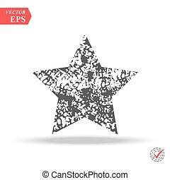 グランジ, ベクトル, バックグラウンド。, シンボル。, star., 星