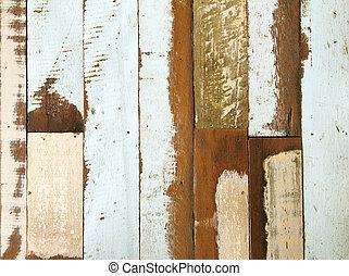グランジ, ペンキ, 木, 古い, 手ざわり
