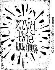 グランジ, ポスター, 単純である, 型, 動機づけである, 効果, doodles