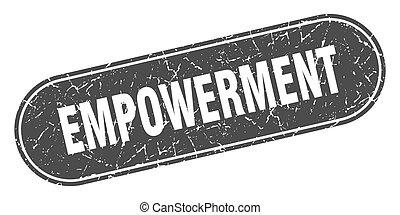 グランジ, ラベル, 黒, 印。, stamp., empowerment