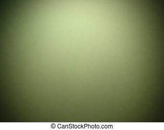 グランジ, 中心, フレーム, 型, 抽象的, ビネット, 緑の背景, 黒, ボーダー, スポットライト
