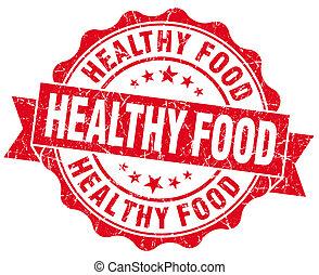 グランジ, 健康, 隔離された, 食物背景, シール, 白い赤