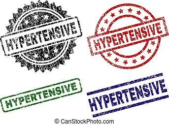 グランジ, 切手, シール, textured, hypertensive