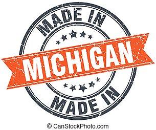 グランジ, 切手, ミシガン州, オレンジ, 白いリボン
