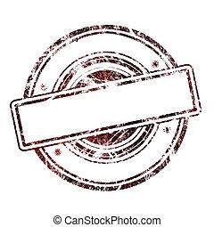 グランジ, 切手, 抽象的, 空, ゴム