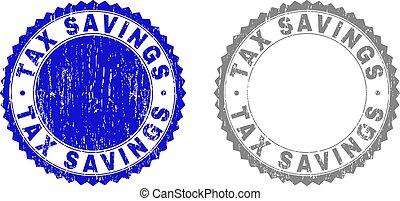 グランジ, 切手, 税, シール, 節約, textured