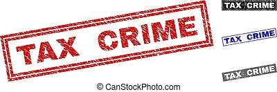 グランジ, 切手, 税, シール, textured, 犯罪, 長方形