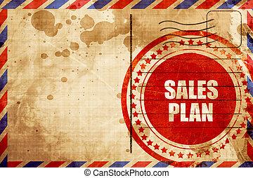 グランジ, 切手, 販売, 赤い背景, 計画, エアメール