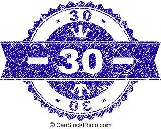 グランジ, 切手, 30, textured, シール, リボン