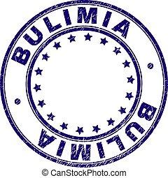 グランジ, 切手, bulimia, textured, シール, ラウンド
