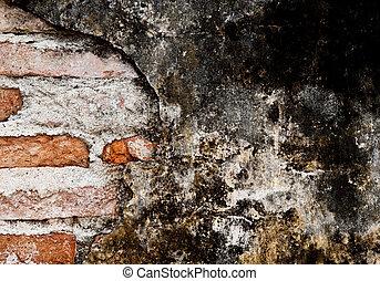 グランジ, 古い, 壁