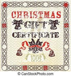 グランジ, 商品券, 型, style., クリスマス