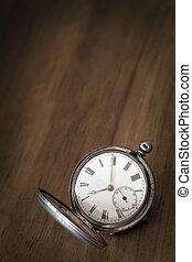 グランジ, 型, 上に, 腕時計, ポケット, 材木