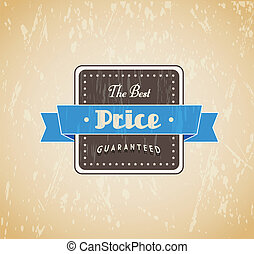 グランジ, 型, 価格, guaranteed, ラベル, レトロ, 背景, text., 最も良く