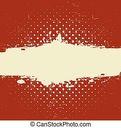 グランジ, 型, 旗, textured