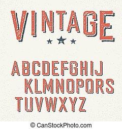 グランジ, 型, letters., アルファベット, 赤, 尾行された
