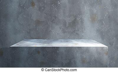 グランジ, 壁, に対して, コンクリート, 内部, ブロック, 3d