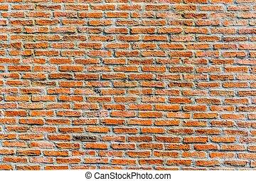 グランジ, 壁, 手ざわり, 背景, れんが, 赤