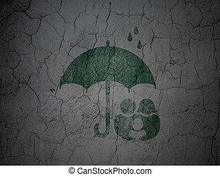 グランジ, 家族, 壁, 安全, 背景, 傘, concept: