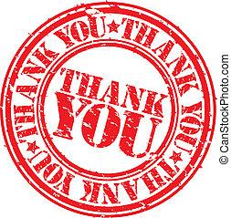 グランジ, 感謝しなさい, 切手, ゴム, vect, あなた