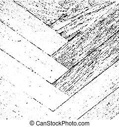 グランジ, 手ざわり, 寄せ木張りの床