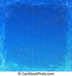 グランジ, 手ざわり, 抽象的, 青, バックグラウンド。, フレーム, 型