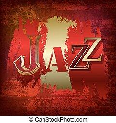 グランジ, 抽象的, ジャズ, 単語, 背景