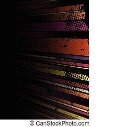 グランジ, 抽象的, ストライプ, 背景, いくつか, colors.